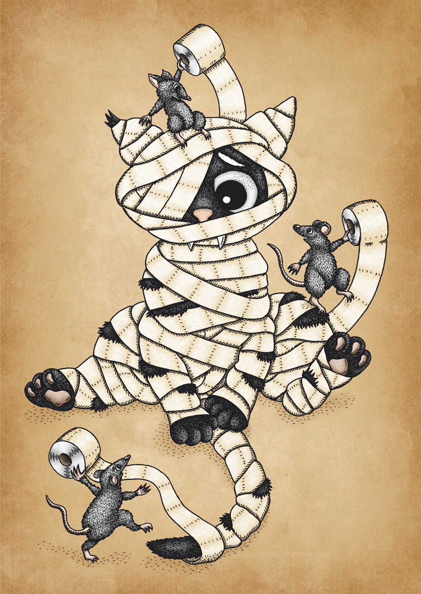 The Mummy Cat by Jenny Bommert, 2017
