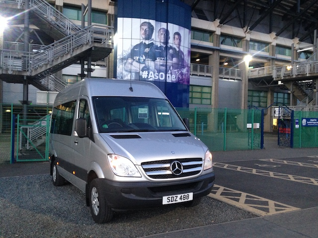 An 8-seater Mercedes minibus from the Dowden's Taxis fleet
