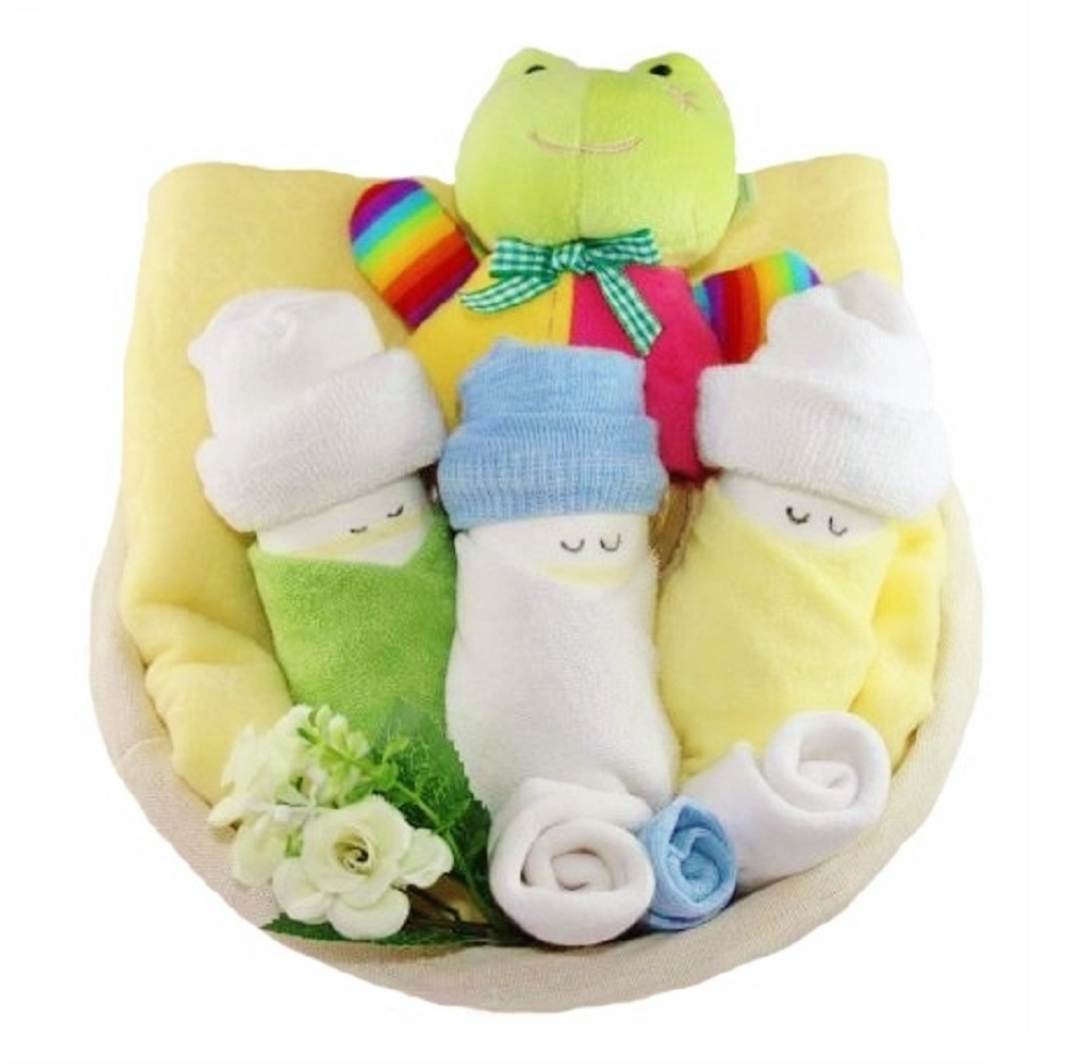 Cute Babies Gift Basket - Yellow