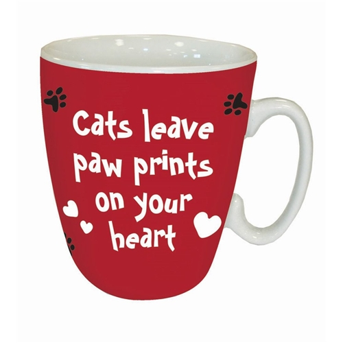 Mok Cats leave paw prints on your heart  (260 ml)