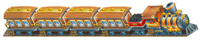 Almost max-out EGGsexpress Train holds 14 visitors