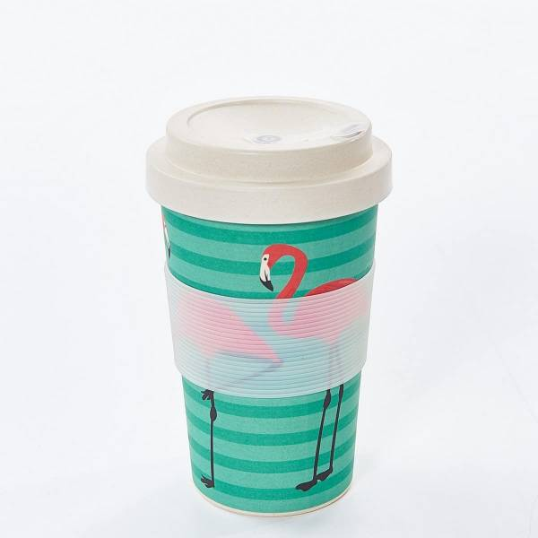 Eco Chic Bamboo Cup - Flamingo