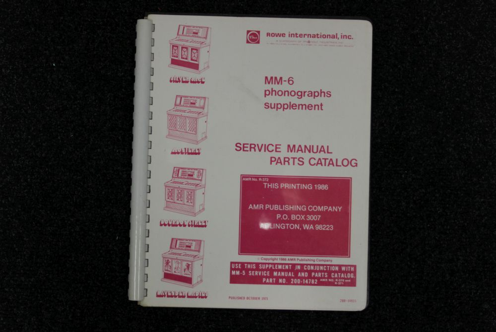 AMI - Service Manual - MM6 phonographs supplement