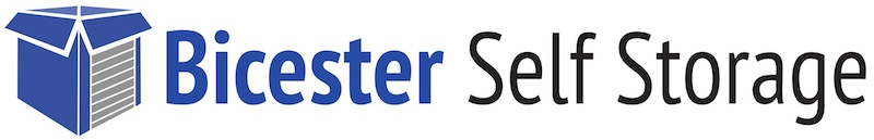 Bicester Self Storage logo with the strapline, Safe, Secure, Low Cost Storage Solutions
