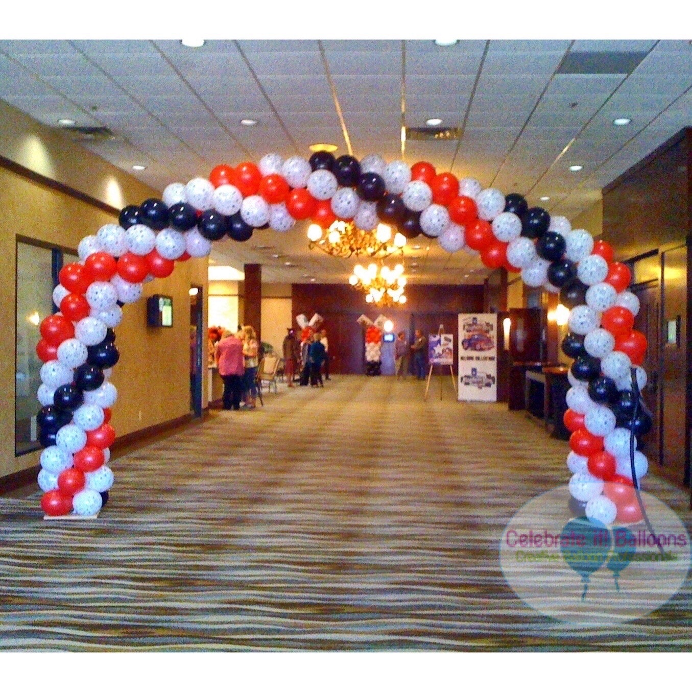 Casino themed balloon arch