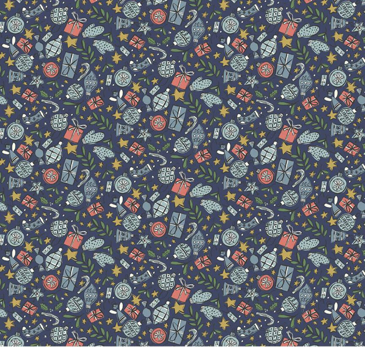 Face covering- liberty festive fabrics
