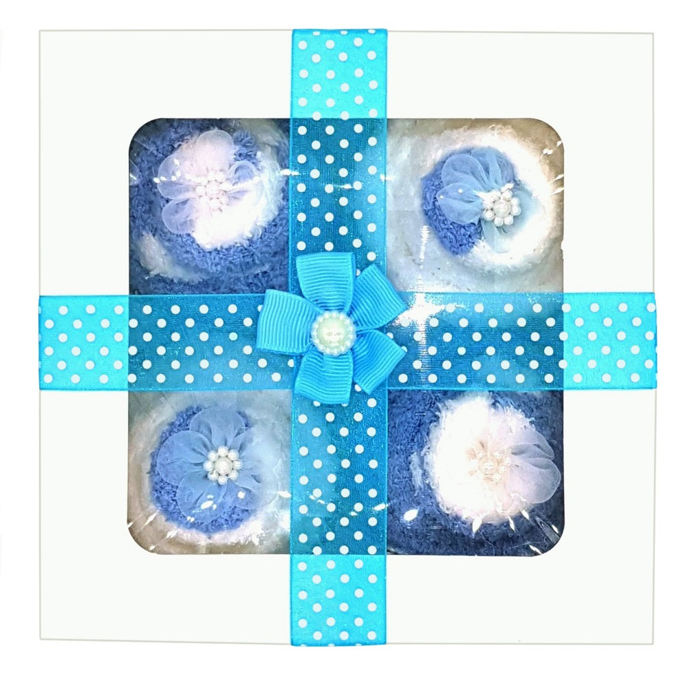 Women's 'Cozy Sock' Cupcakes,  Blue Ribbon Gift Box *ON SALE*