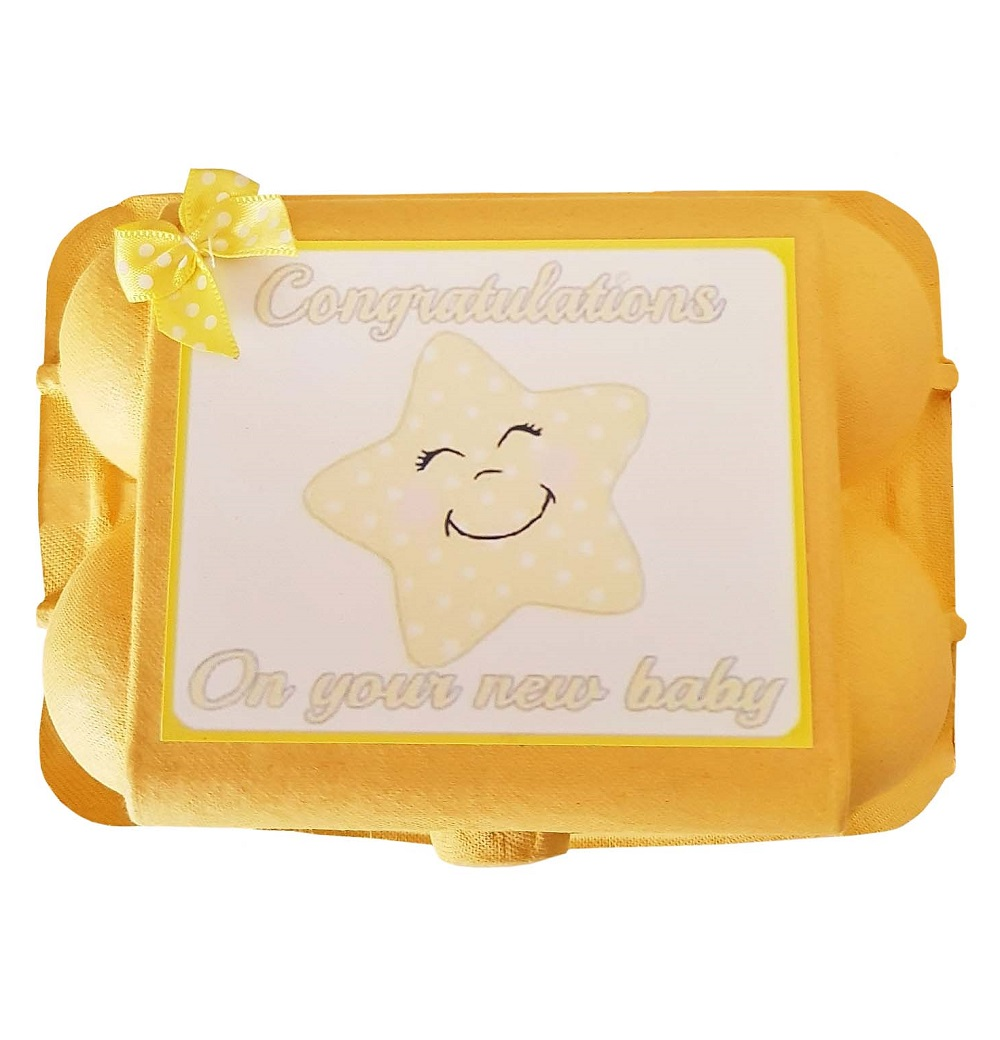 Baby Socks & Mitts - Yellow Egg Carton Gift