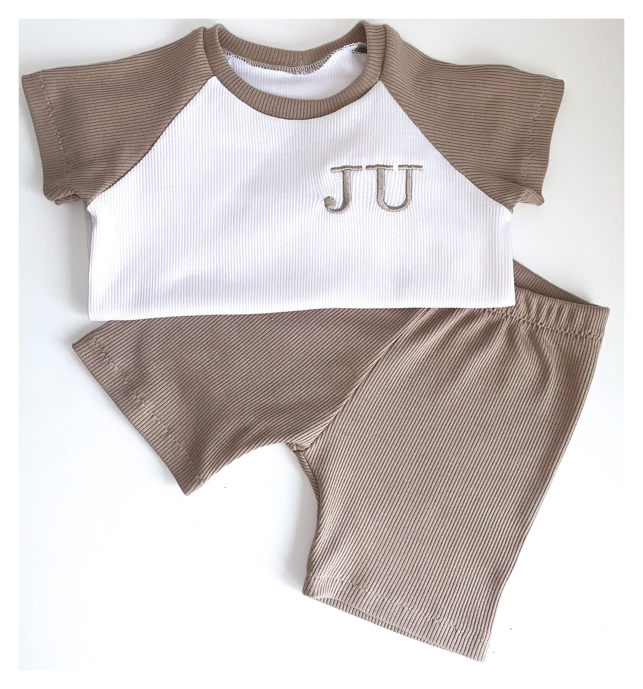 Stone Raglan Shorts Set