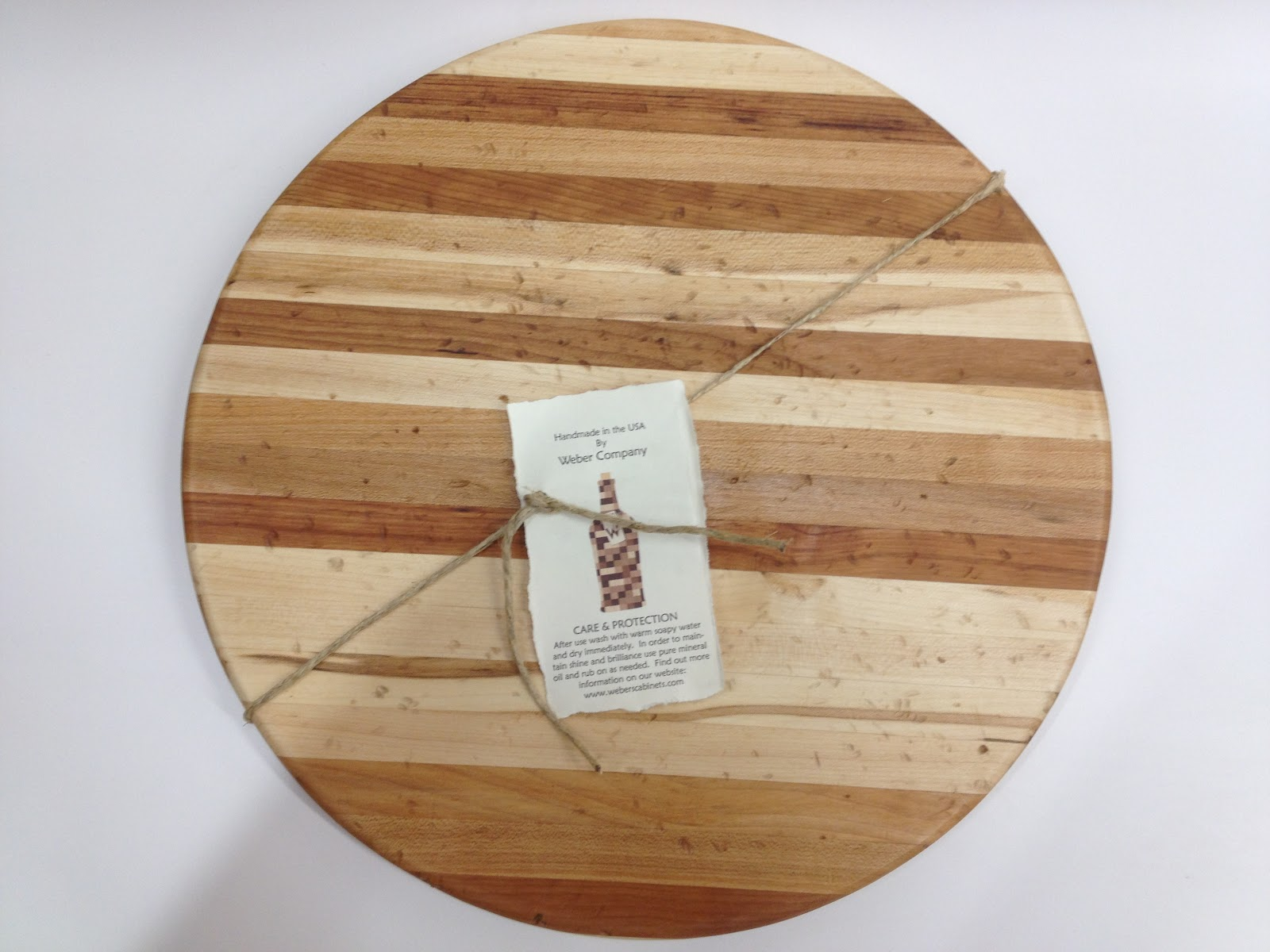 "our new ""salvaged"" circle cutting board"