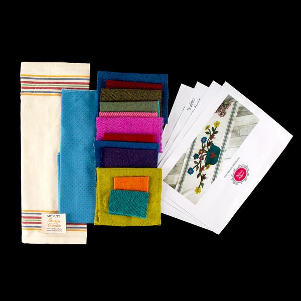 Fabric Affair:Wool Applique Table Runner Kit.