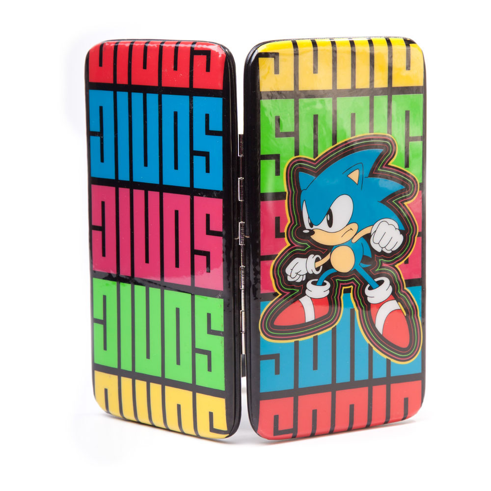 Official Licence Sonic The Hedgehog Hinge Wallet (Multi-Coloured)