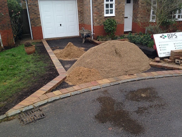 Building a new driveway in Sunbury-on-Thames