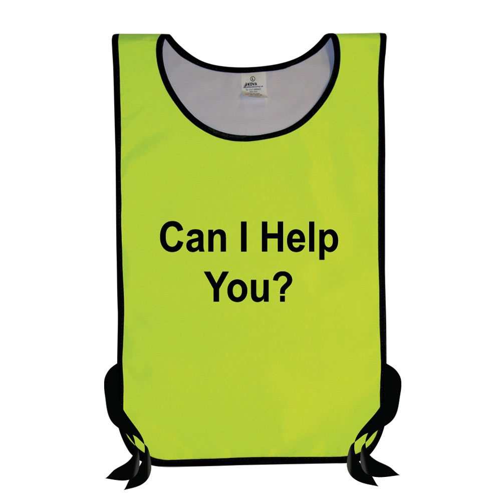 Hi Vis Yellow Tabard Can I Help You?.