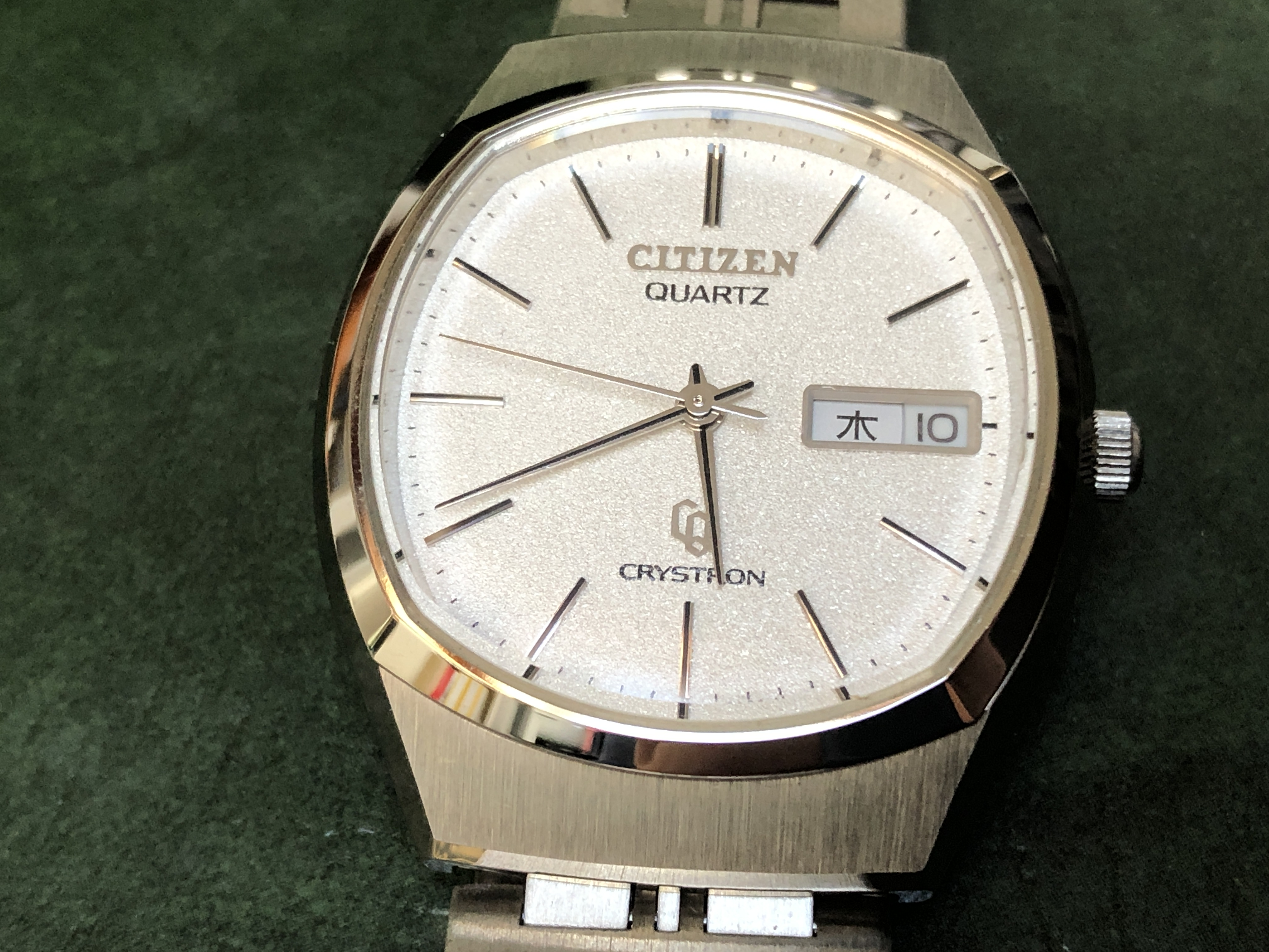Citizen Crystron 4-7100- GN-5-U Diamond Dust (Sold)