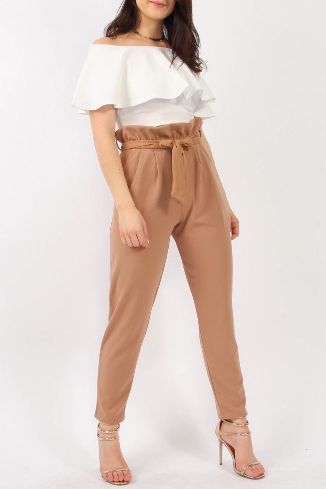 Paperbag trousers Beige
