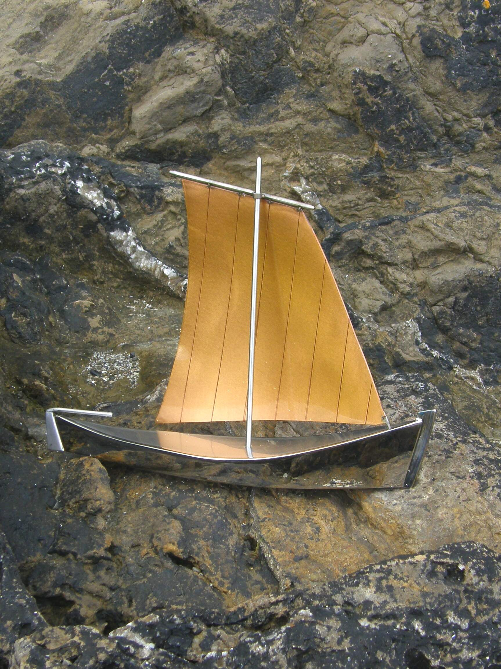 Starboard view of Nolwenn based on traditional sailing boats found in the Gulf of Morbihan