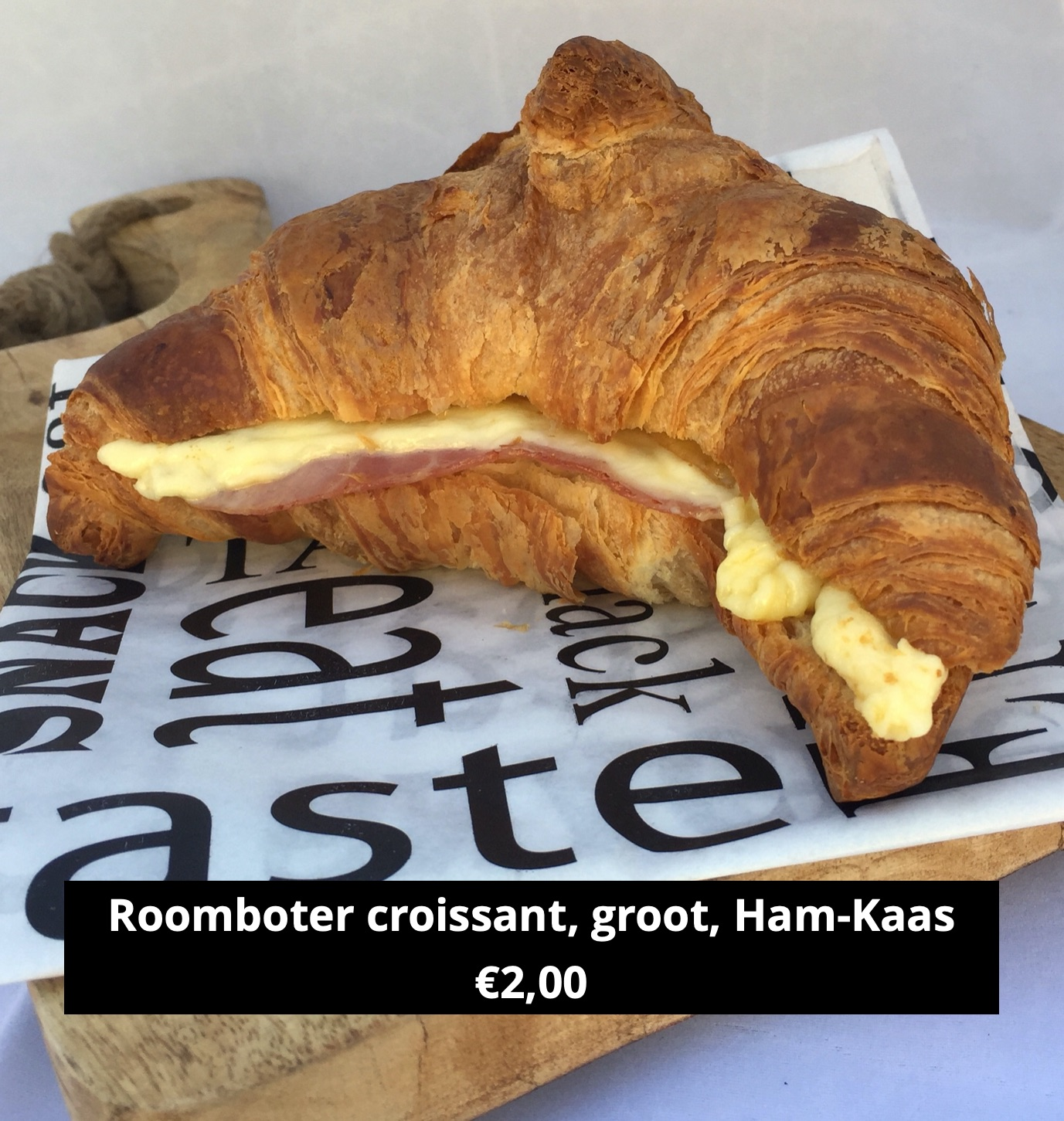 Roomboter croissant Ham Kaas