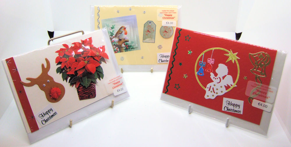 Three handmade Christmas cards - set 6