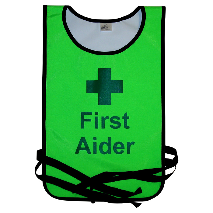 First Aider Tabard Hi Vis Green