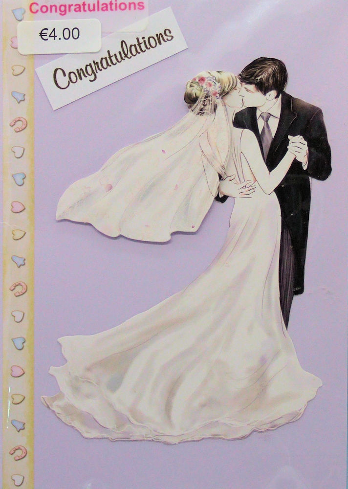 Handmade 'Wedding' Card - 42