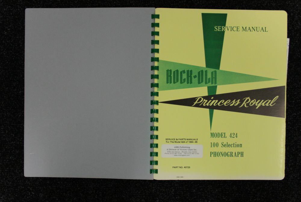 Rock-ola - Service Manual - Model 424
