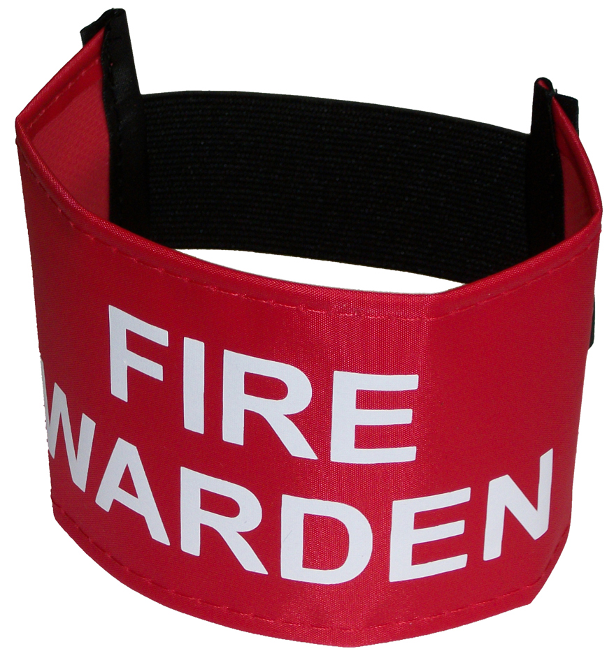 Armbands for Fire Warden's, Range of Colours And Sizes. UK Made
