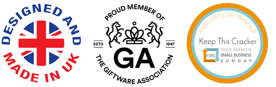 Designed & Made in UK, Proud Member of the GA Seal, Winner #SBS