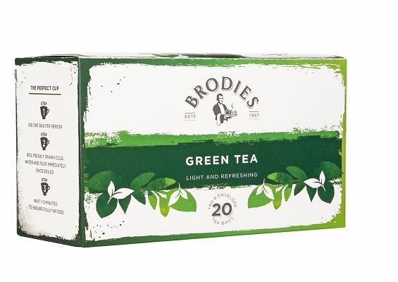 Brodie Melrose Green Tea Tag and Envelope