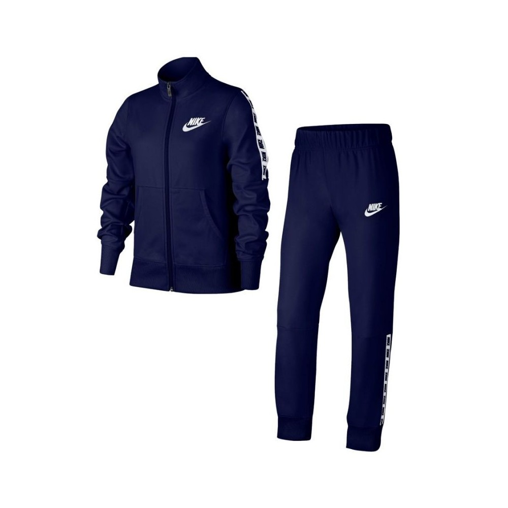Nike NSW Poly Tracksuit Blue-White