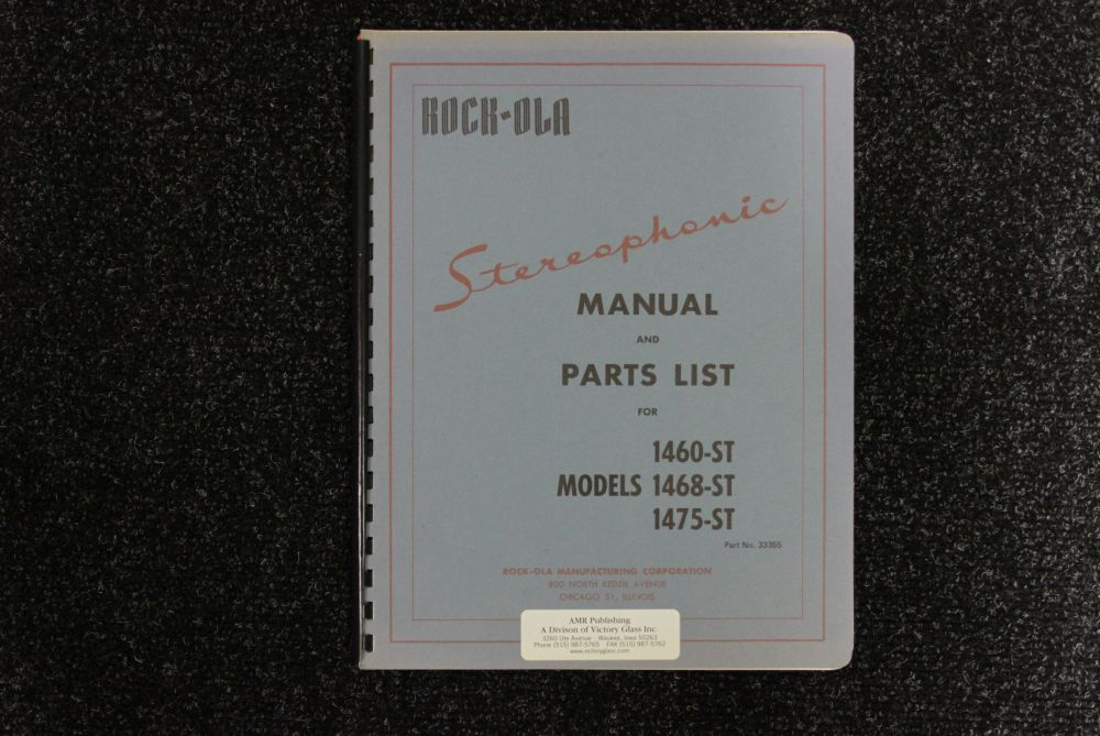 Rock-ola - Manual and Parts List - Model 1460 1468 1475