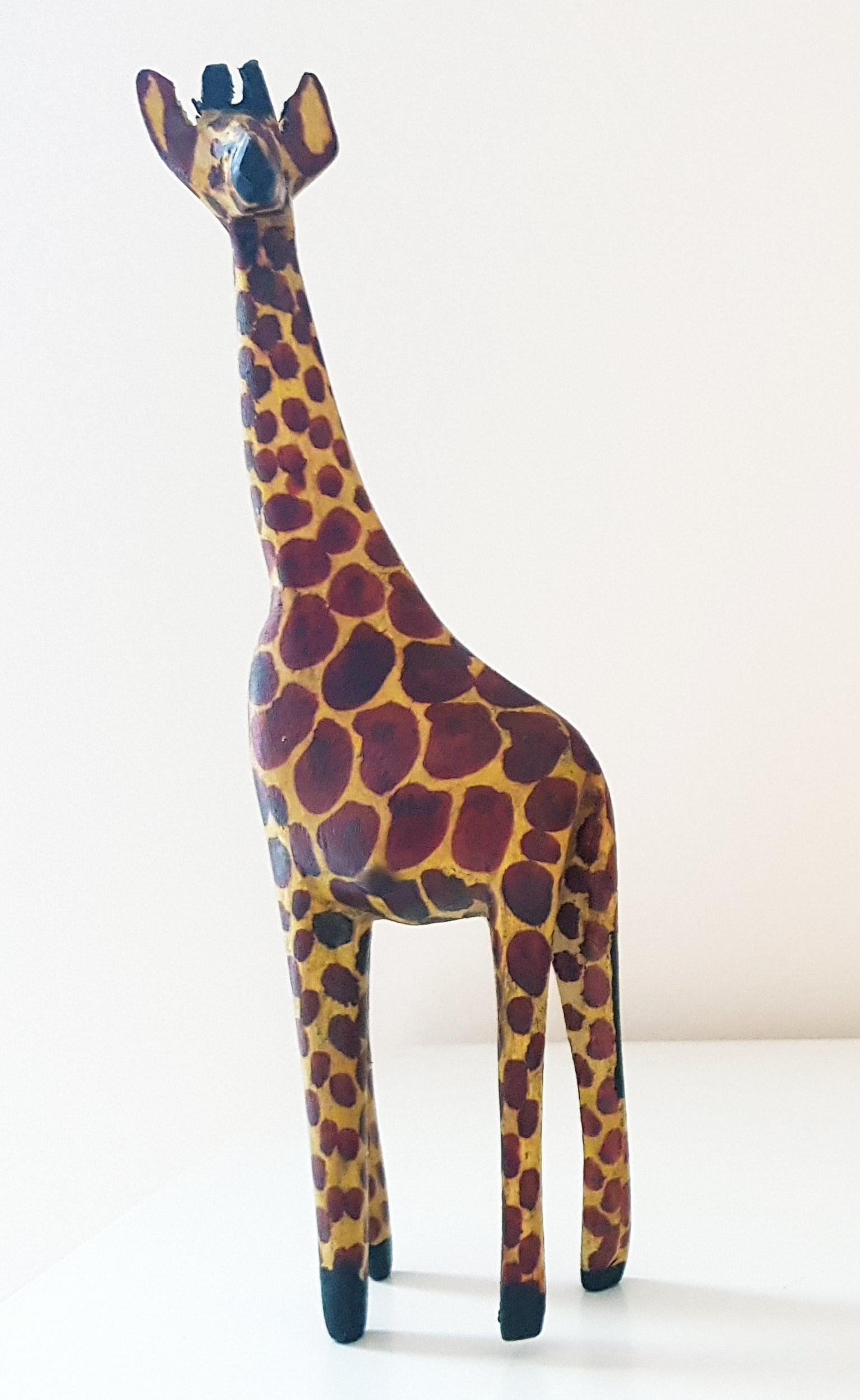 Hand Carved Wood Giraffe (Small)