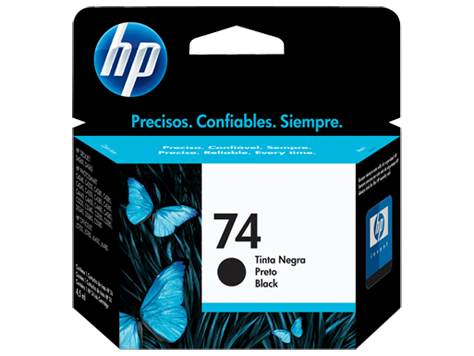CARTUCHO HP 74 NEGRO, ESTANDAR (CB355WL)