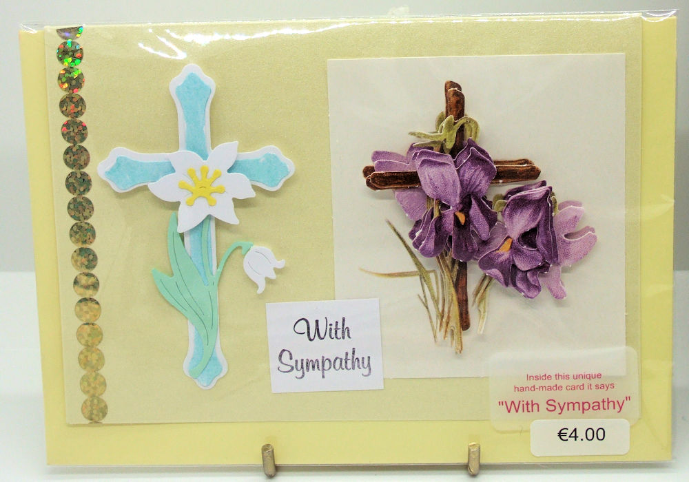 Handmade 'With Sympathy' card - 63
