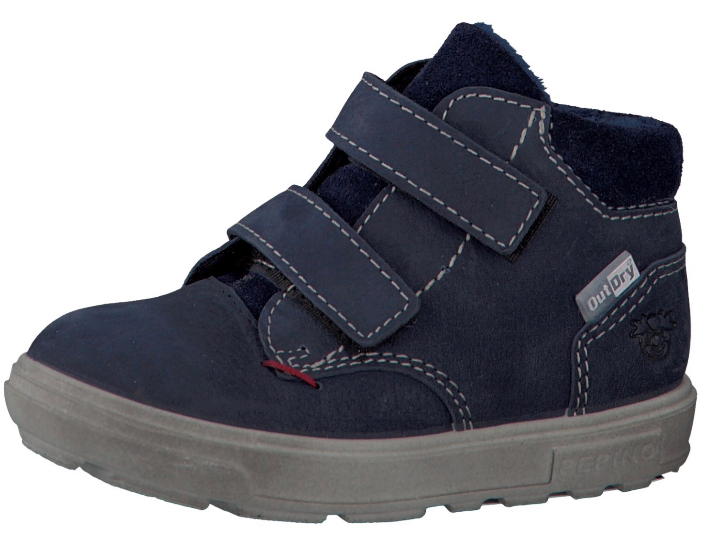 Blue suede high back trainers for toddler boys