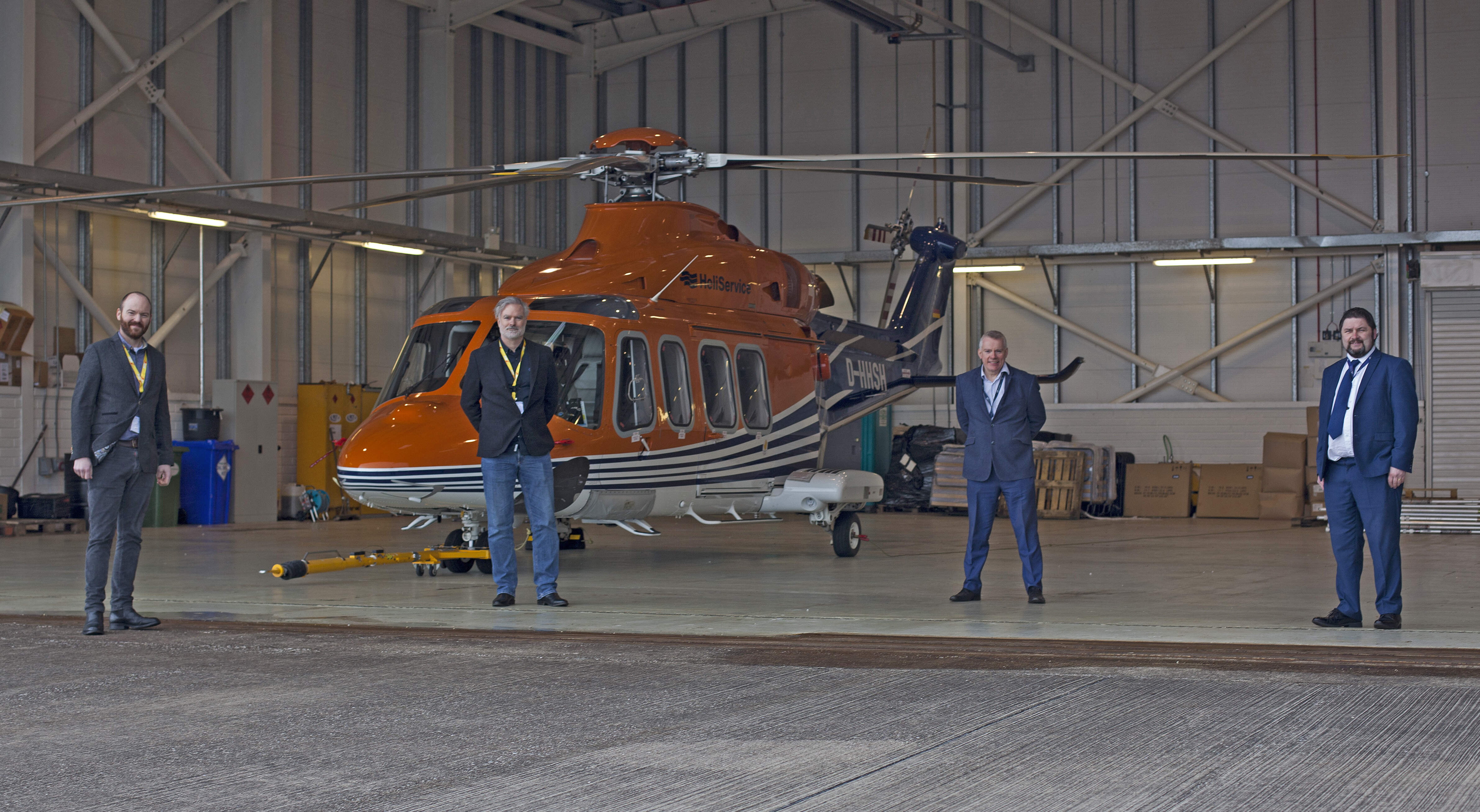 Weston Aviation welcomes NHV Helicopters	to Cork Airport/EICK