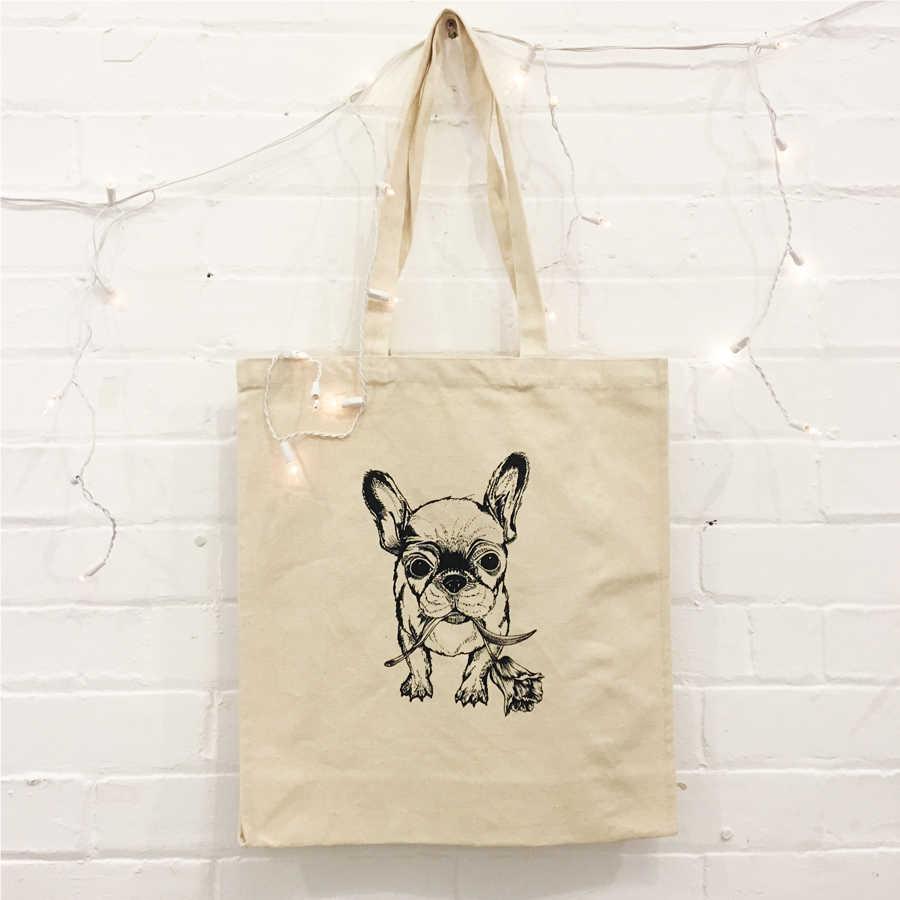 4e3d61383da TULIP FRENCHIE Printed Tote Bag
