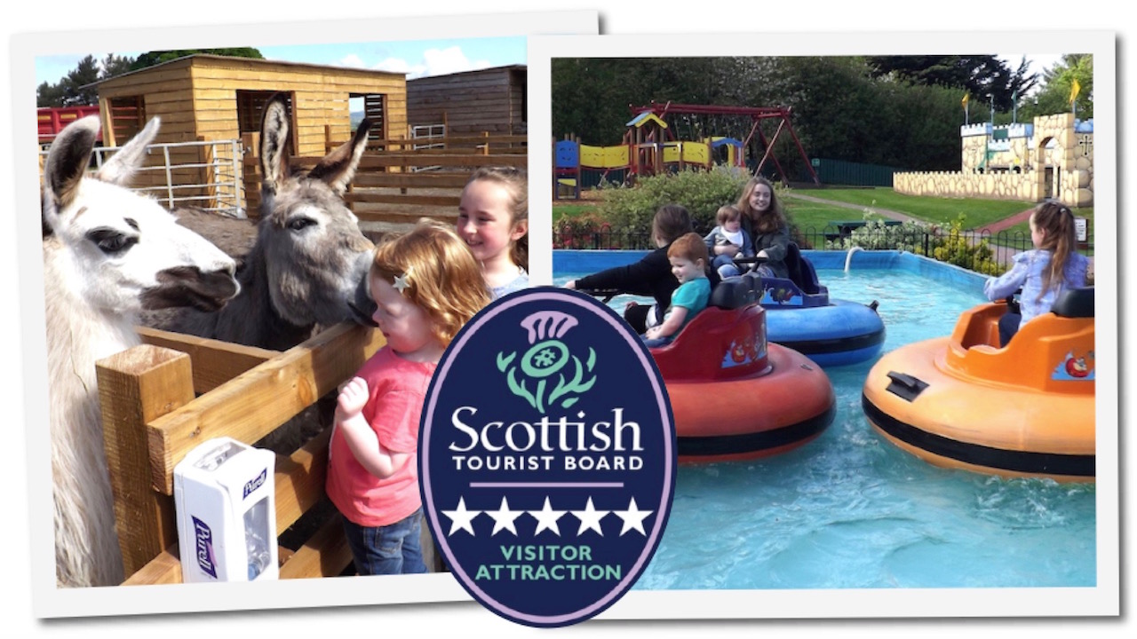 Dalscone Farm Fun Dumfries is a Scottish Tourist Board 5 Star Visitor Attraction