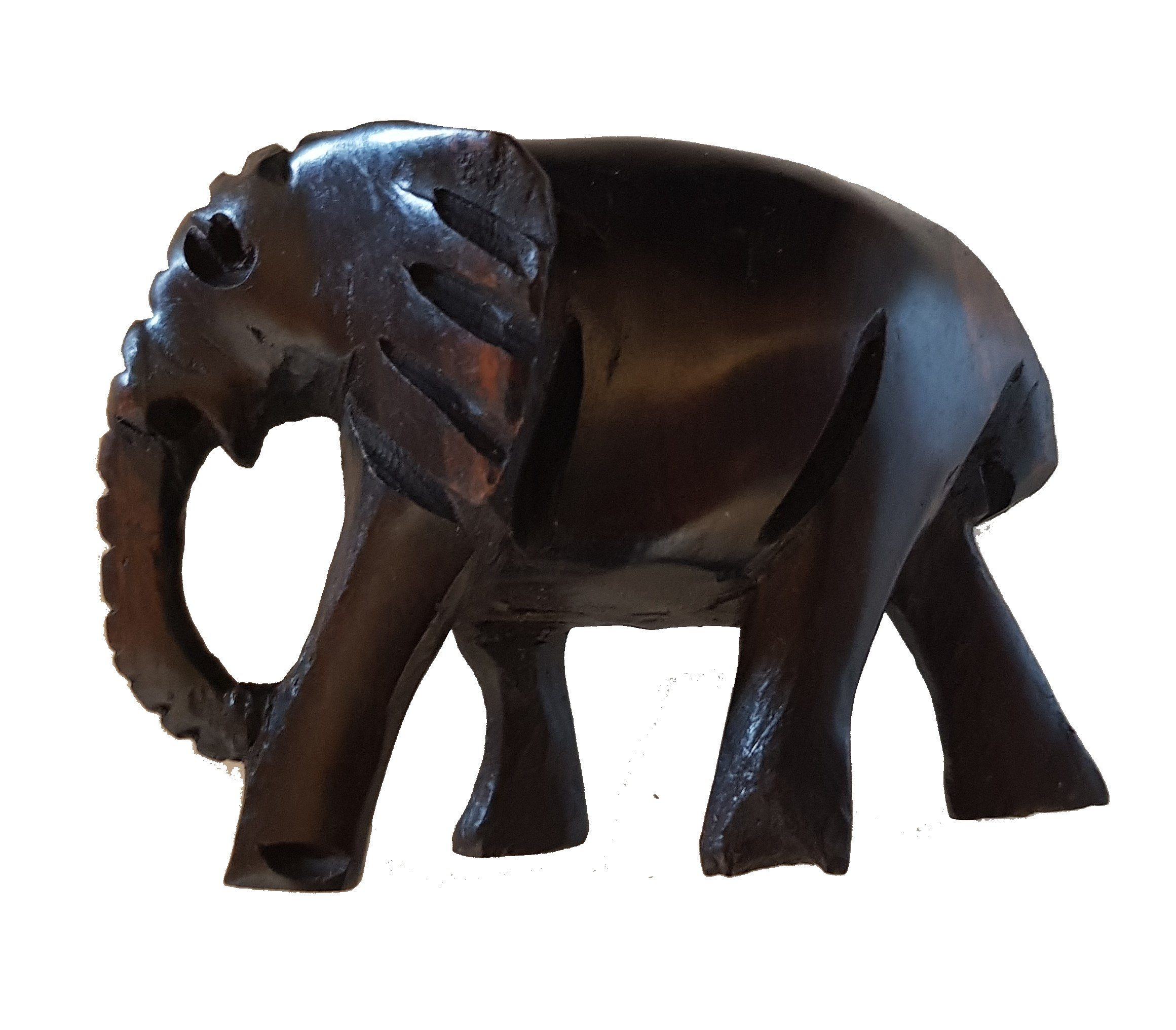H5 Hand Carved Elephant Ebony Wood