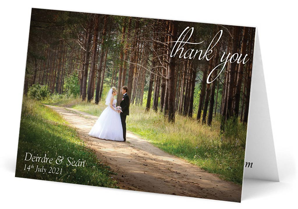 Single photo thank you note