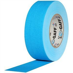 "PRO GAFF® - FL Blue Fluorescent Gaffer Tape - 2"" x 25 yards (48mm x 22.8m)"
