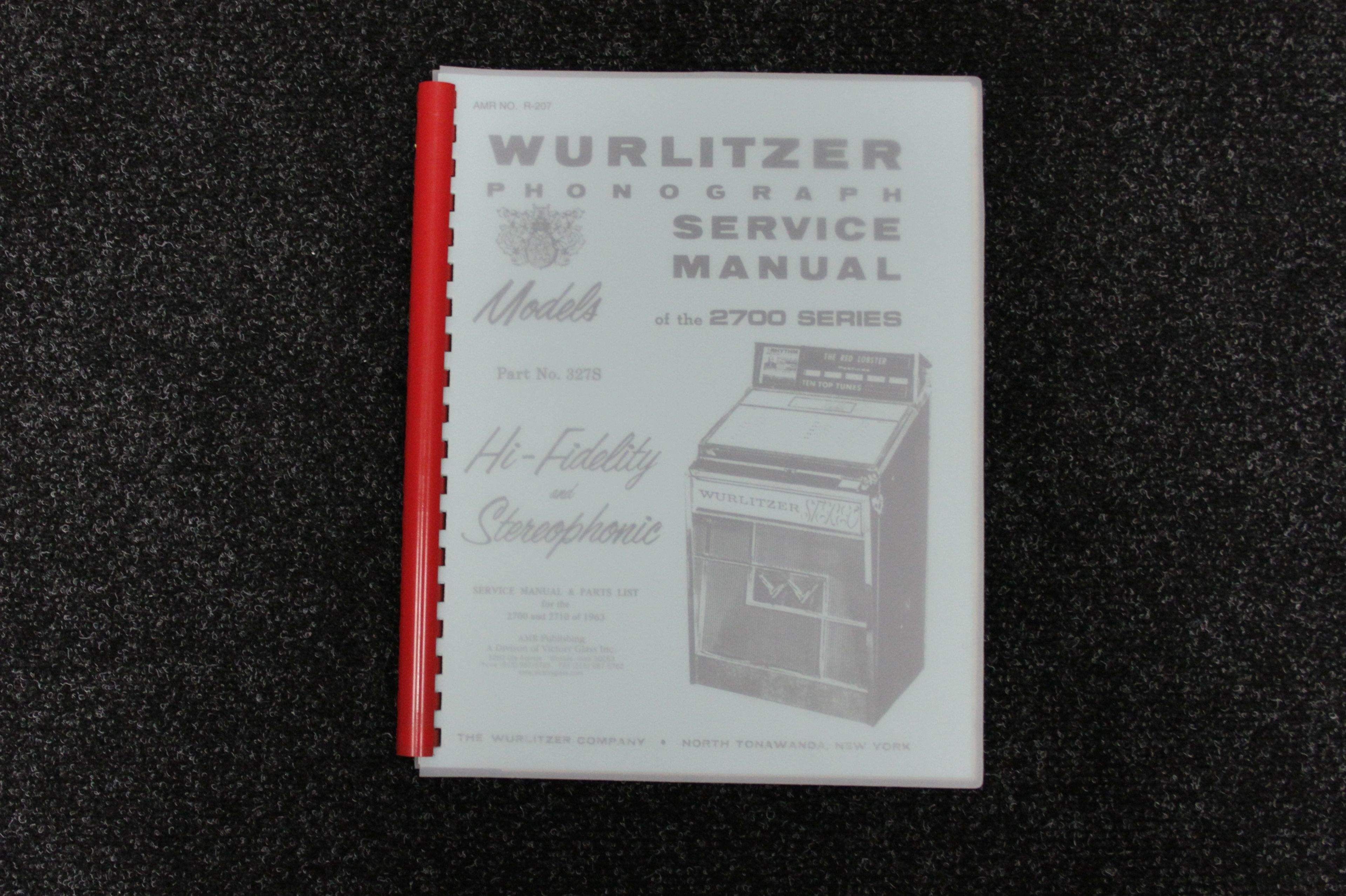 Wurlitzer Service Manual 2700 series