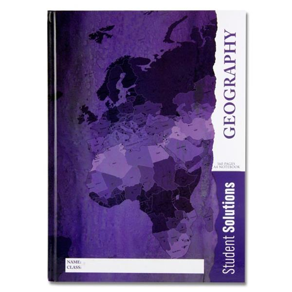 GEOGRAPHY Student Solutions A4 160pg Hardcover Notebook