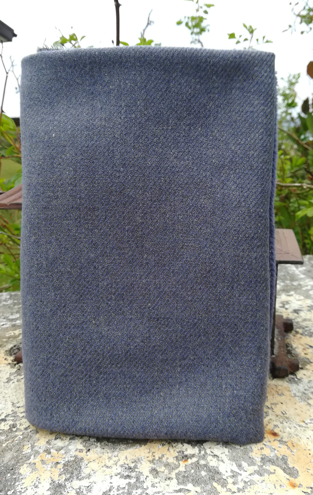 "New Fabric Affair Donegal Tweed:""Slate Grey""."