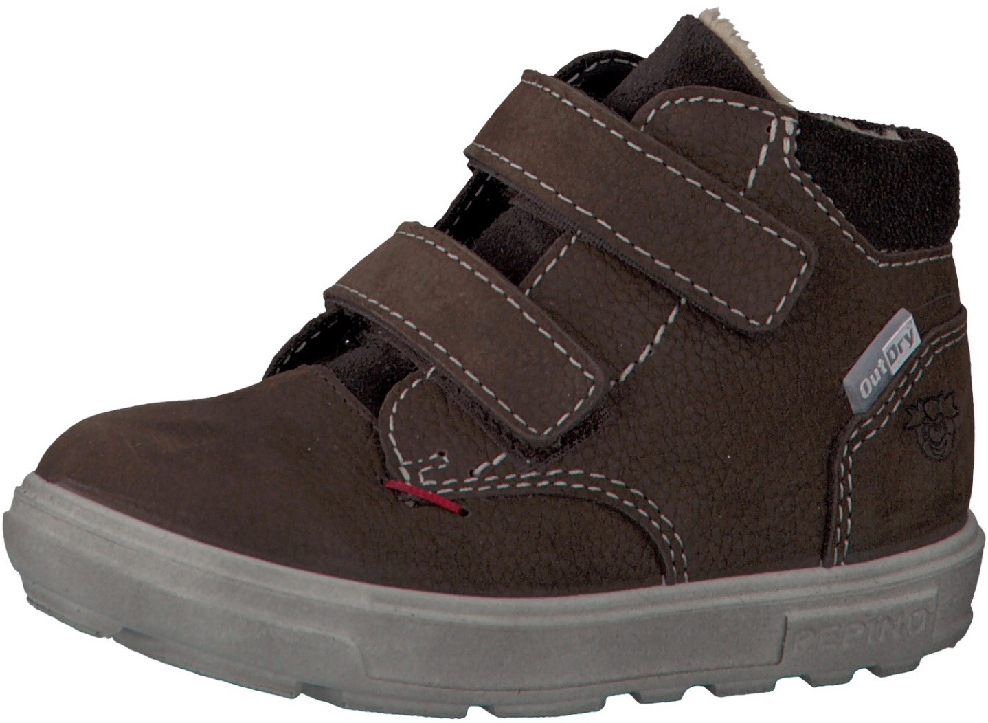 Brown leather trainers for toddlers