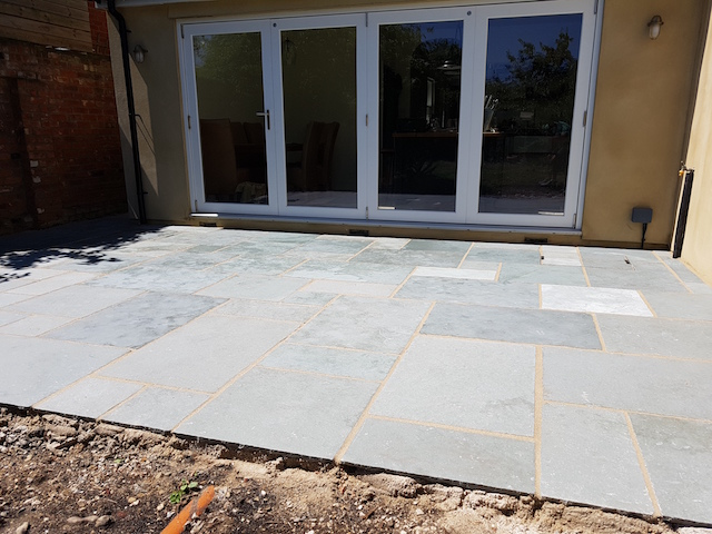 Virginia Water Blue Grey Limestone Patio