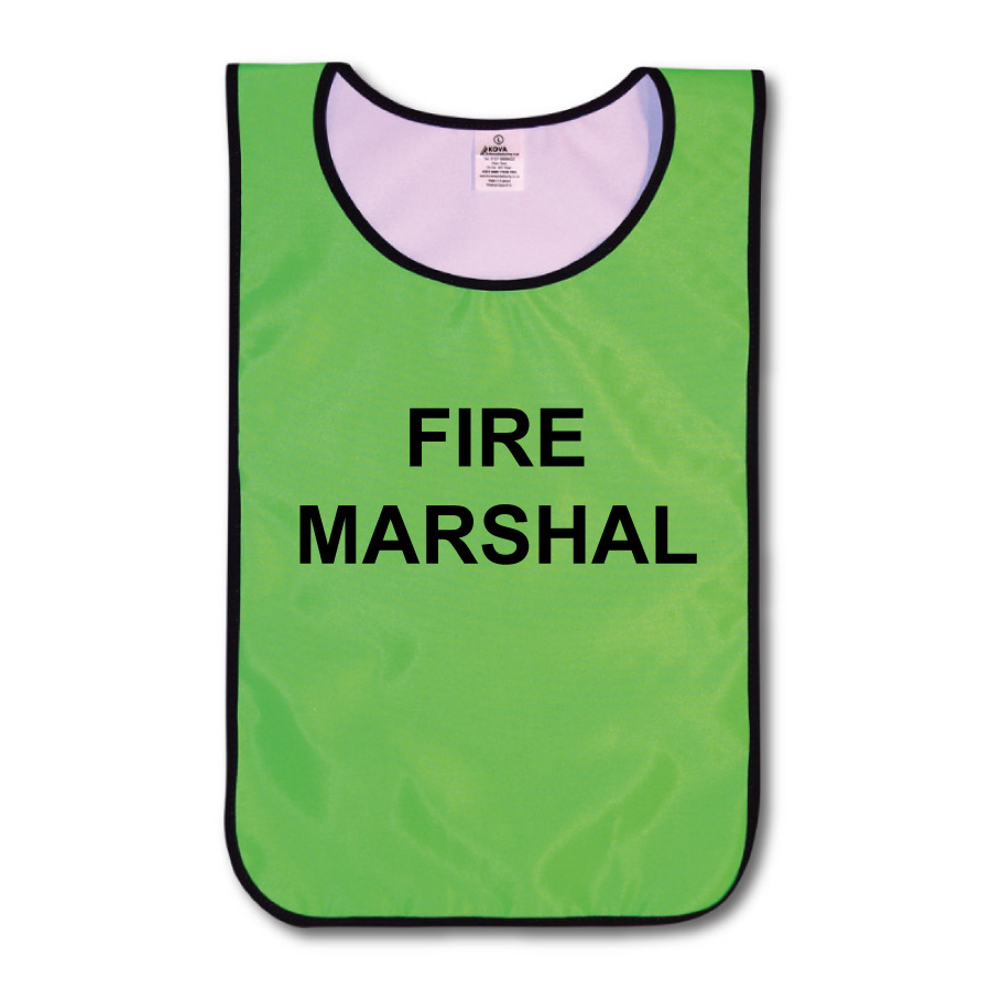 Fire Marshal Tabards Hi Vis