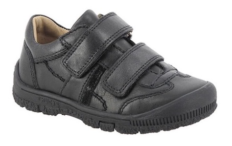 Black leather trainer style shoes for boys