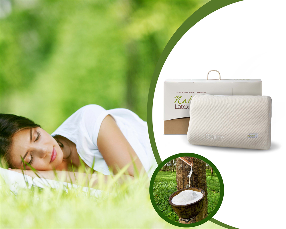 NATURAL LATEX LINEN PILLOW CREAM - 62 X 40 X 14 CM