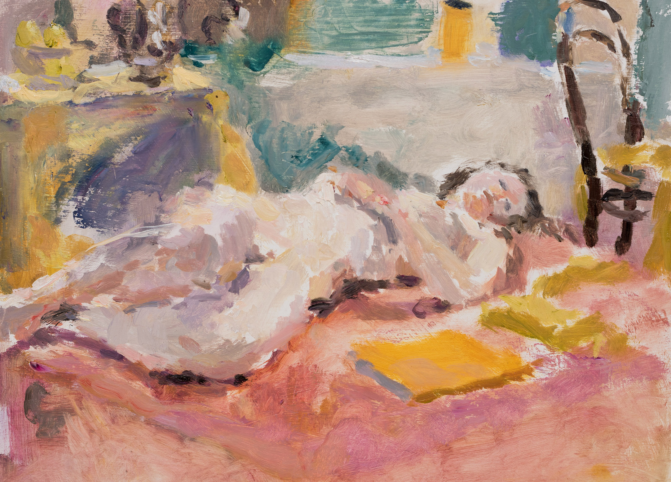 Reclining Woman with a Yellow Book
